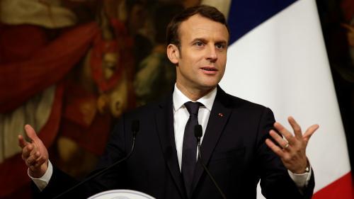 """VIDEO. Migrants : Macron prône """"l'efficacité"""" et met en garde contre """"les belles paroles"""""""