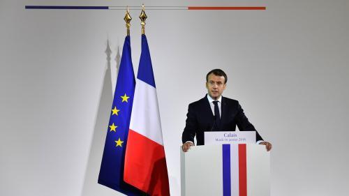 """DIRECT. Migrants : """"En aucun cas, on ne laissera se reconstituer une jungle"""" à Calais, assure Emmanuel Macron"""
