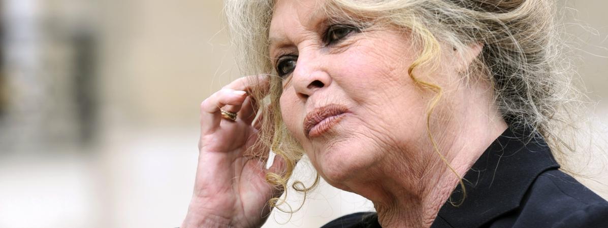 Brigitte Bardot, le 27 septembre 2007, dans la cour de l\'Elysée à Paris.