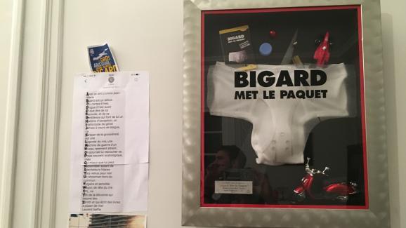 Affiche de Jean-Marie Bigard à Paris, le 10 janvier 2018.
