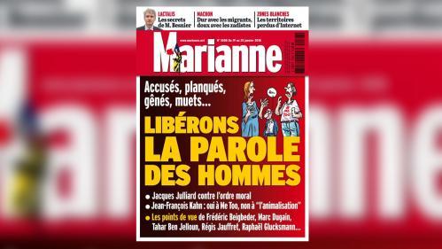 """""""Libérons la parole des hommes"""" : """"Marianne"""" défend le """"second degré"""" de sa une sur #BalanceTonPorc"""