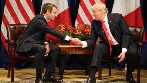 """""""Pays de merde"""" : """"Ce n'est pas un mot que vous pouvez utiliser"""", lance Macron à Trump"""