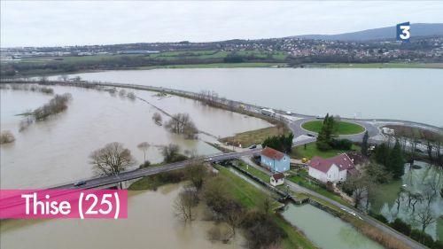 VIDÉO. Les inondations en Franche-Comté vues du ciel