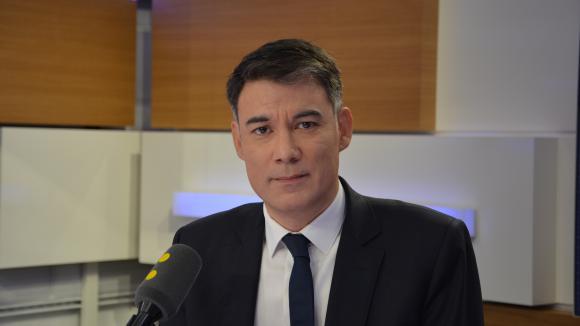 Olivier Faure, député socialiste de Seine-et-Marne, président du groupe socialiste à l\'Assemblée nationale.&