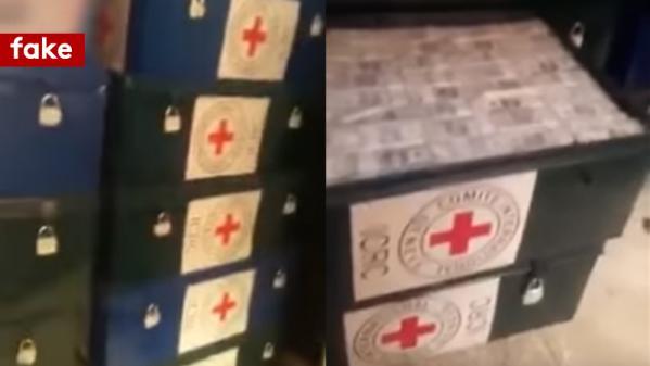 nouvel ordre mondial   Le vrai du faux. L'étrange affaire des malles de la Croix Rouge remplies d'argent