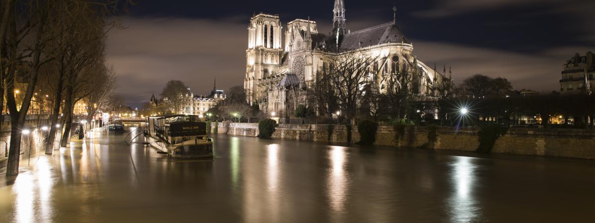 La Seine en crue à Paris, le 28 janvier 2018.