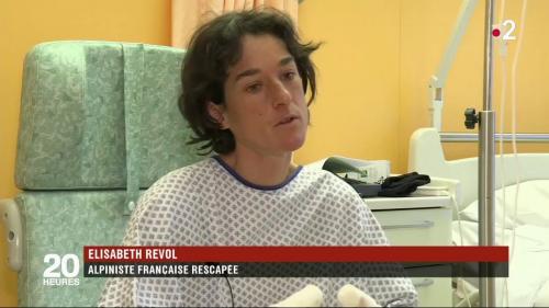 """VIDEO. """"J'ai vu deux lampes qui arrivaient, j'ai hurlé"""" : l'alpiniste Elisabeth Revol raconte son sauvetage sur """"la montagne tueuse"""""""