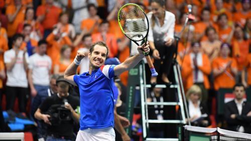 Coupe Davis : Richard Gasquet remet la France à égalité avec les Pays-Bas