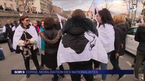 Corse : mobilisation des nationalistes