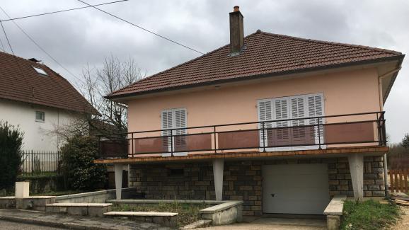 La maison où vivaient Alexia etJonathann Daval, à Gray-la-Ville (Haute-Saône), le 2 février 2018.