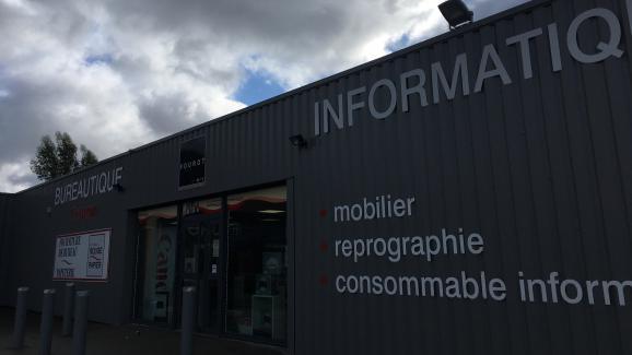 L\'entreprise où travaille Jonathann Daval, à Gray-la-Ville (Haute-Saône), le 2 février 2018.