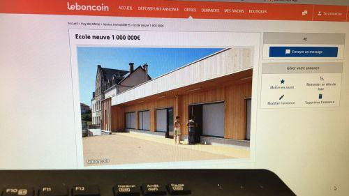 Puy-de-Dôme : l'académie veut fermer une classe, les parents d'élèves mettent l'école en vente sur Le Bon Coin