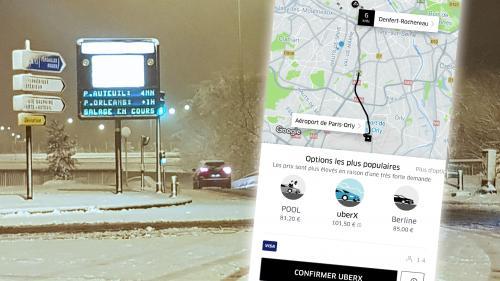 Neige à Paris : les tarifs exorbitants des Uber font halluciner les utilisateurs