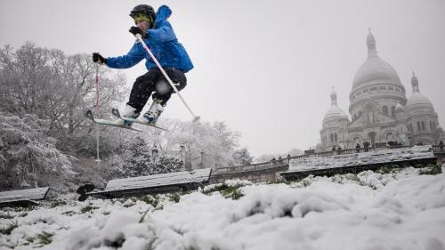 VIDEOS. De Montmartre au Champ-de-Mars, on skie dans les rues d'Ile-de-France