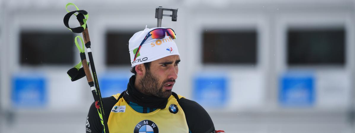Le biathlète français Martin Fourcade lors de l  épreuve de Coupe du monde à d89029c8a020