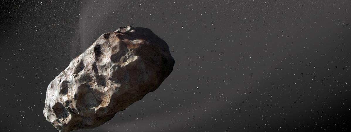 Illustration de l\'astéroïde 288P, le 22 septembre 2017.