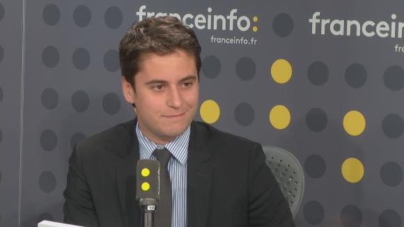 """Le député LREM Gabriel Attal était l\'invité de \""""L\'Interview J-1\"""", mardi 13 février 2018, sur franceinfo."""