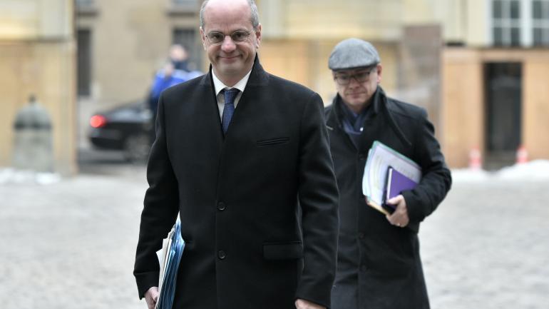 Le ministre de l\'Education Jean-Michel Blanquer arrive à Matignon, le 9 février 2018 à Paris.