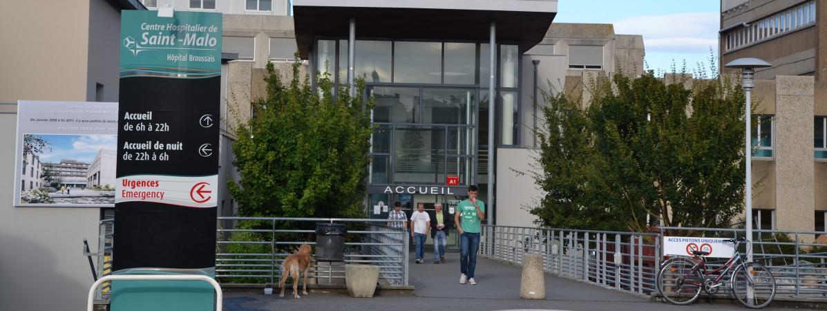 Le centre hospitalier de Saint-Malo (Ille-et-Villaine), le 3août 2012.