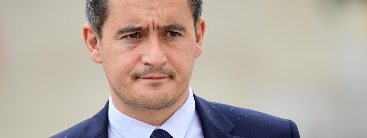 Le ministre de l\'Action et des Comptes publics, Gérald Darmanin, au palais de l\'Elysée à Paris, le 19 juillet 2017.