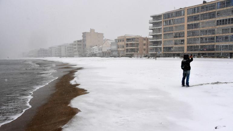 La plage de Palavas-les-Flots (Hérault), le 28 février 2018.