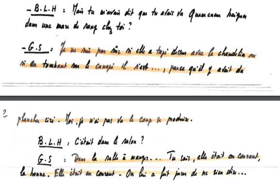 """Verbatim de l\'enregistrement de \""""Petit Guillaume\"""", fils de Guillaume Seznec, retranscrit par Denis Langlois."""