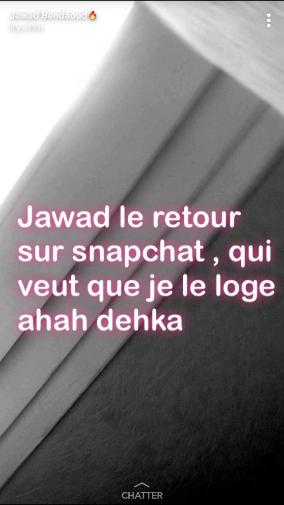 Capture d\'écran d\'une story Snapchat de Jawad Bendaoud.