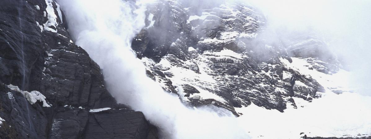 Une avalanche dans le département des Hautes-Pyrénées, en 2009.