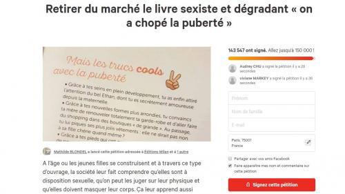 """""""On a chopé la puberté"""" : les éditions Milan ne rééditeront pas un livre pour pré-adolescentes jugé sexiste"""