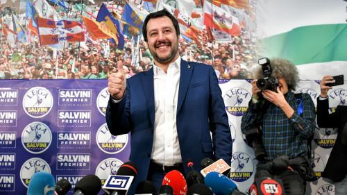 """DIRECT. Législatives en Italie : le leader d'extrême droite Matteo Salvini estime avoir """"le droit et le devoir de gouverner"""""""