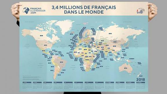 Dans le premier numéro,une carteavec la population française pays par pays.