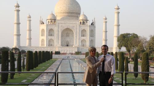 En Inde, Emmanuel et Brigitte Macron s'offrent une escapade au Taj Mahal