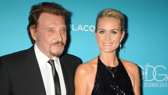 Johnny and Laeticia Hallyday, Beverly Hills, California, USA, February 17, 2015.
