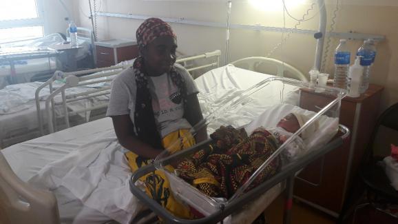 Mariama a accouché à la maternité de Mayotte.