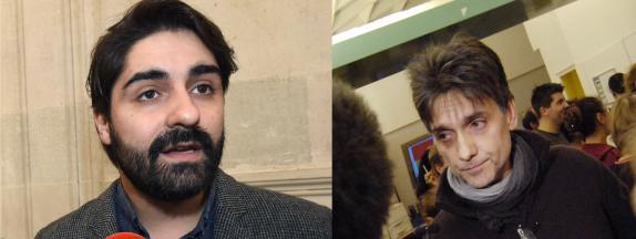 Les journalistes de Mediapart Fabrice Arfi (gauche) et Karl Laske (droite).