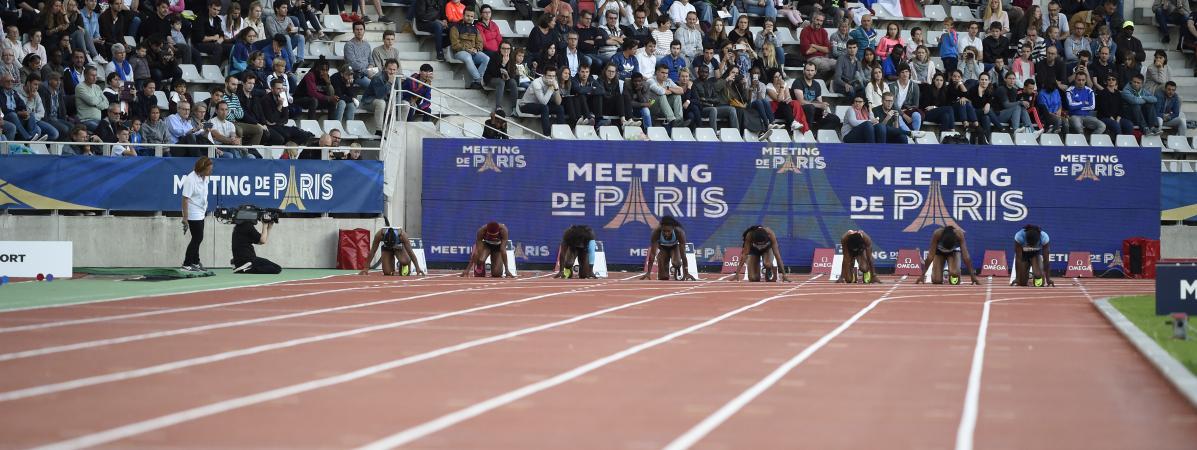 Un terrain d\'athlétisme à Paris, le 1er juillet 2017.