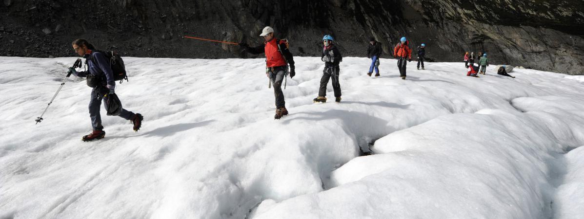 Un groupe de randonneurs près de Chamonix, le 1er octobre 2010. (Photo d\'illustration)