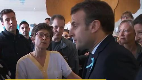 VIDEO. Discussion tendue entre Emmanuel Macron et des soignantes du CHU de Rouen