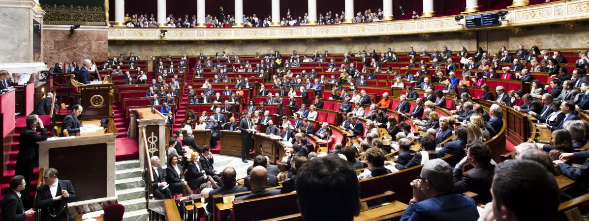 Lors de la séance de questions au gouvernement à l\'Assemblée nationale, le 14 mars 2018.