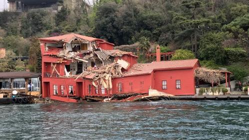VIDEO. Turquie : un cargo de 225 mètres s'encastre dans une villa à Istanbul