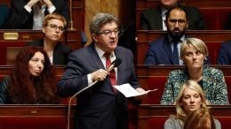 Jean-Luc Mélenchon, le 27 mars 2018, à l\'Assemblée nationale (Paris).