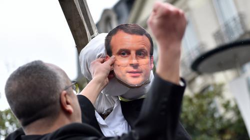 Nantes : des élus LREM choqués par la pendaison d'un mannequin à l'effigie d'Emmanuel Macron