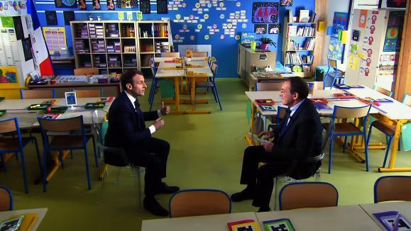 nouvel ordre mondial   En un mot. L'enfant Pernaut converse avec le professeur Macron