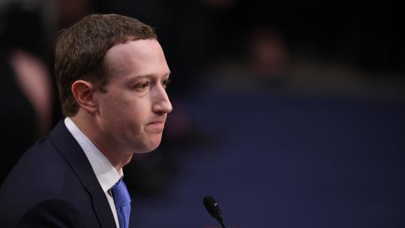 Mark Zuckerberg, patron de Facebook devant la commission au Congrès américain à Washington, aux États-Unis,le 10 avril 2018.