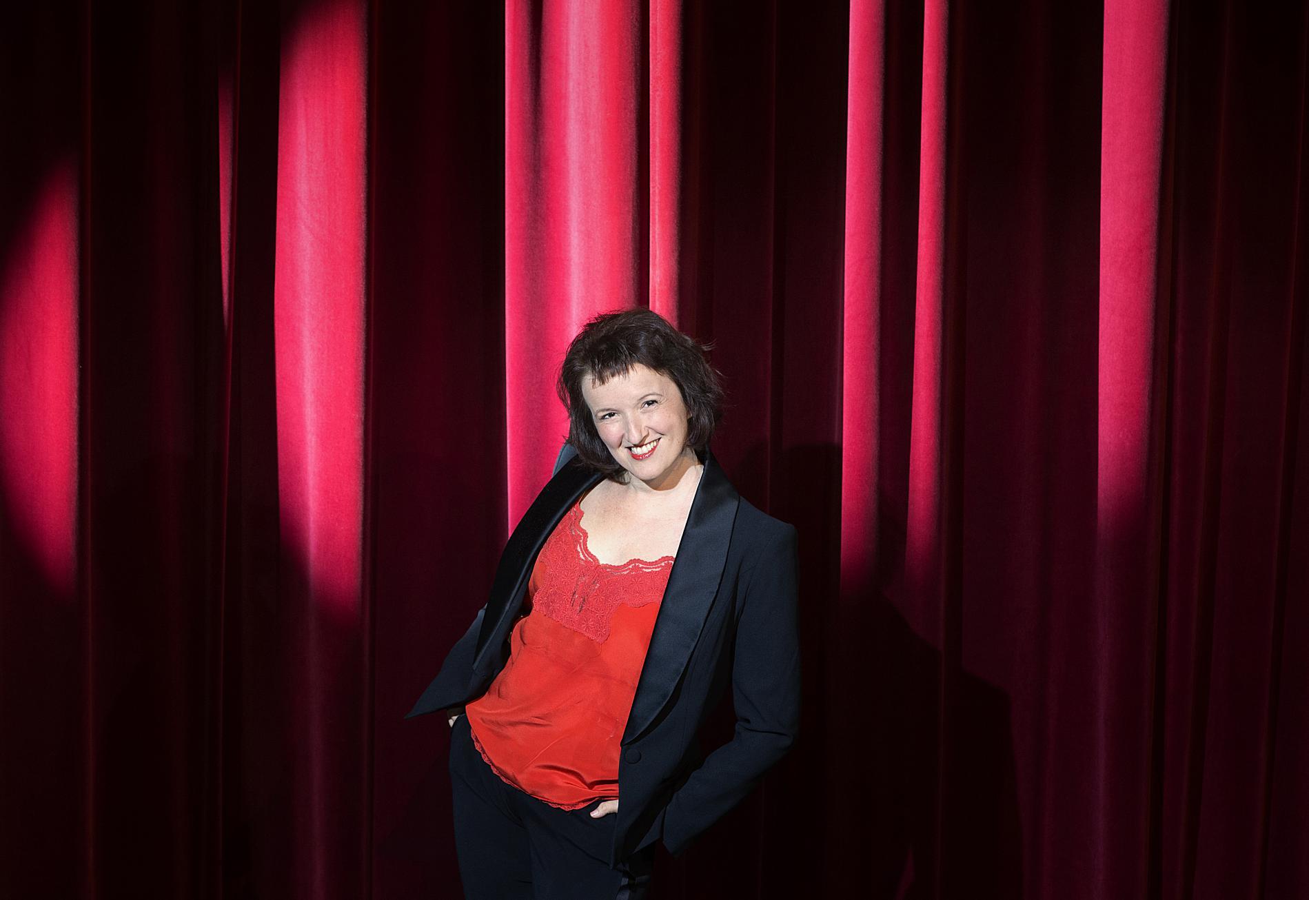 L\'humoriste Anne Roumanoff au théâtre Alhambra à Paris, le 28 juillet 2015.