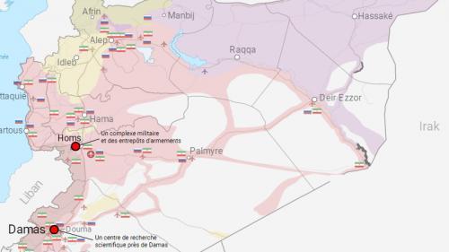 Découvrez dans notre carte où ont eu lieu les frappes occidentales en Syrie