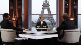 Le président de la République, Emmanuel Macron, le 15 avril 2018 à Paris.