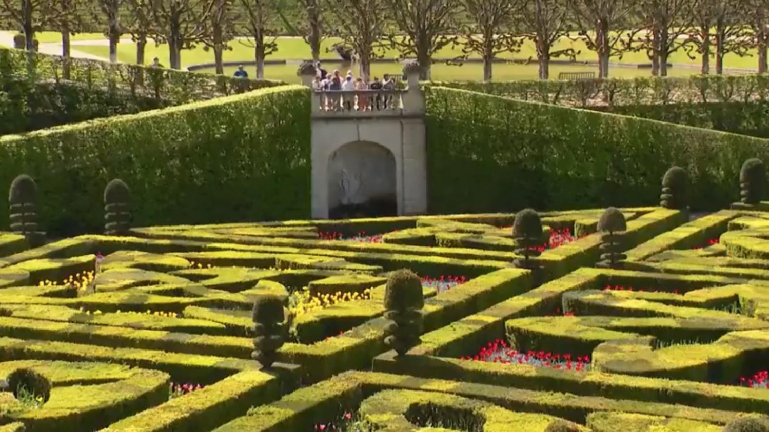 Indre et loire visite des jardins du ch teau de villandry for Visite de jardins en france