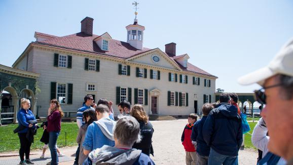 La résidencedu premier président des Etats-Unis, George Washington, à Mount Vernon, en Virginie (Etats-Unis), le 18 avril 2018.
