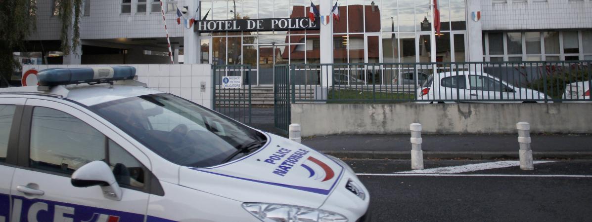 L\'hôtel de police de Caen (Calvados), le 18 novembre 2012 (illustration).